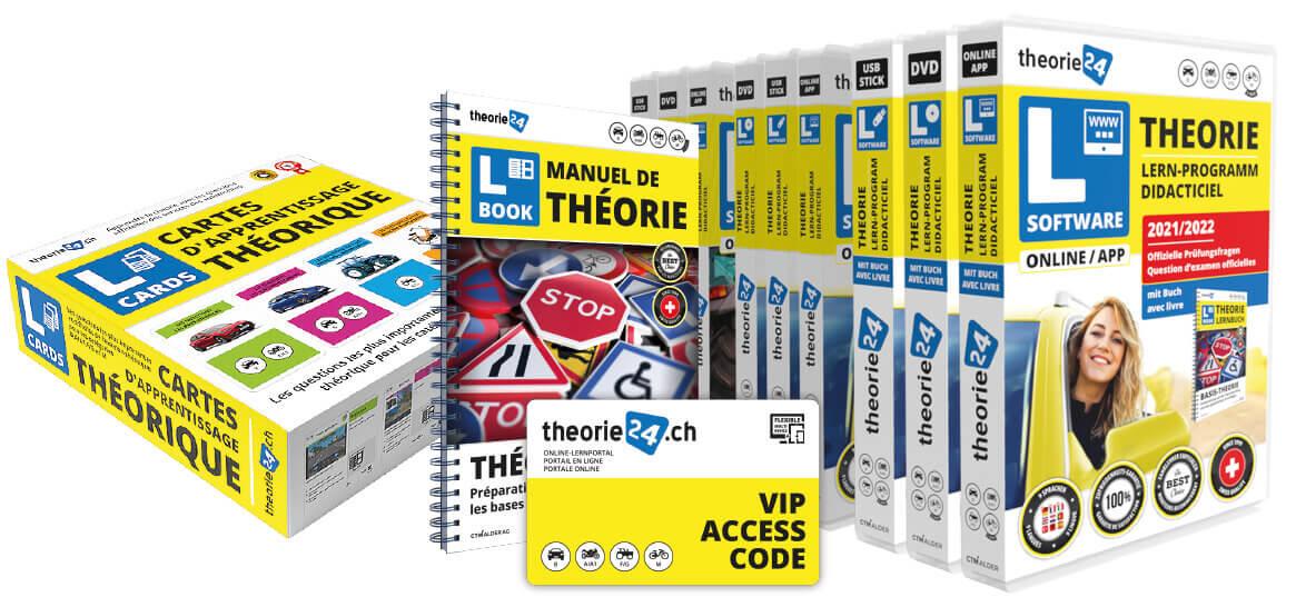 Apprendre la théorie avec le logiciel d'apprentissage pour l'examen théorique de theorie24 - passer l'examen en toute sécurité.