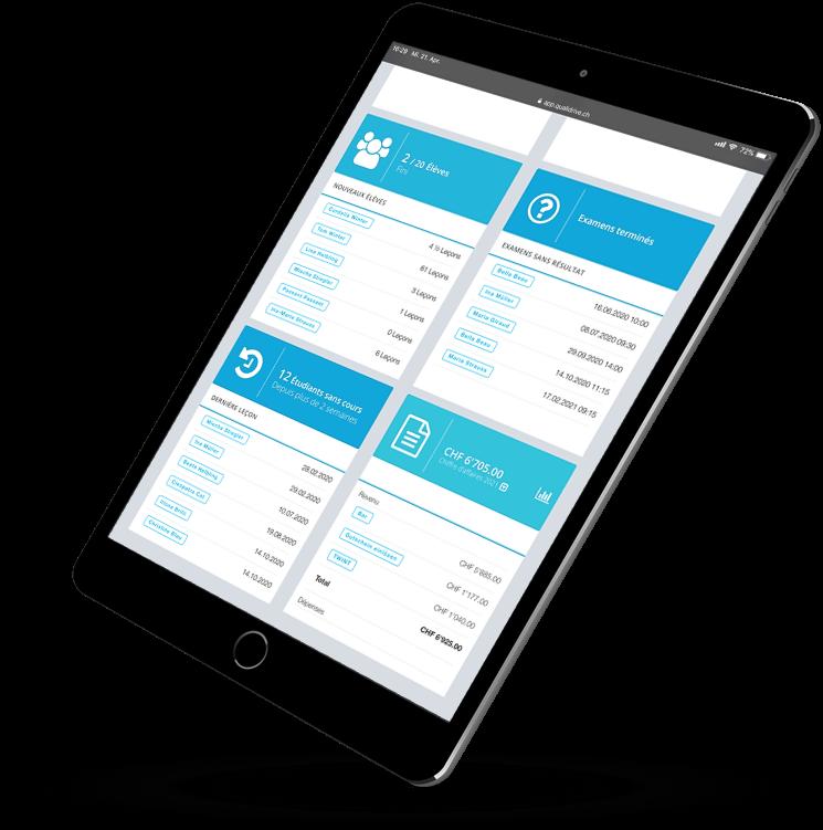 QualiDrive - le logiciel pour les moniteurs de conduite et les écoles de conduite de Suisse